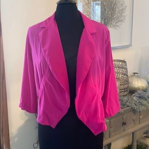 KIERRA Magenta Pink Light Weight Blazer Career